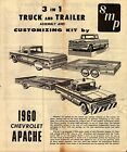 VINTAGE SMT 1960 CHEVROLET APACHE 3 IN 1 MODEL KIT INSTRUCTION BROCHURE