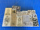Lot of 17 Artistic Christmas Rubber Stamps Inkadinkado Stampendous