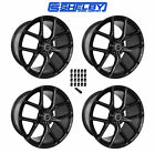 2005 2014 Ford Mustang Shelby Staggered Black Wheels  Lug Nuts 20 x 11  95