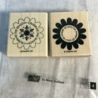 Stampin Up Wood Mounted Rubber Stamps So Many Scallops Snowflake Season Flower