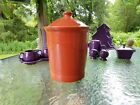 FIESTA WARE large CANISTER CROCK LID paprika NEW