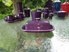 XL extra large COVERED BUTTER DISH mulberry purple NEW HOMER LAUGHLIN FIESTA