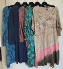 's plus Cotton Tie Dye Comfortable Dresses Size 1X