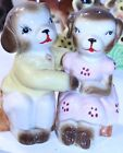 Seated Bench Sitting Bear Couple Vintage Salt and Pepper Shaker Set