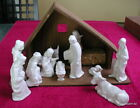 Hummel Goebel Nativity Set 5 or less 11 PC FIGURINES + Wood Creche
