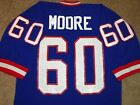 VTG AUTHENTIC 80's ERIC MOORE NEW YORK GIANTS NFL SAND-KNIT JERSEY LARGE RARE!