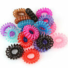 Cool 10X Girl Elastic Rubber Hair Ties Band Rope Ponytail Holder Spiral MEGG