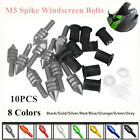 10Pcs M5 Motorcycle CNC Mount Fairing Windscreen Windshield Spike Bolts Washers