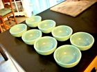 Fire king vintage Turquoise 5 inch bowls set of 8