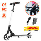 Black Folding Electric Scooter Adults Motor 250W Ultralight Aluminum New