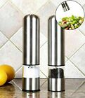 Electric Grinder Salt and Pepper Automatic Set Adjustable Stainless Steel 2PACK