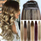 Thick 150g Tape In Skin Weft Real Remy Human Hair Extensions Ombre Brown Blonde