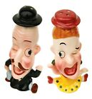 Cartoon Couple Mr and Mrs Funny Man and Woman Ceramic Salt and Pepper Shaker Set