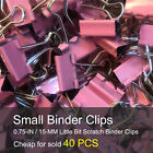 Small Binder Clips 0.75-inch 19mm Paper Clips 20 - 40 - 120 - 240 Pcs Each Bag