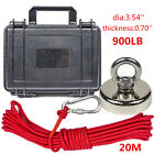Fishing Magnet Kit Up To 900 Lb Pull Force Super Strong Neodymiumropeabs Case