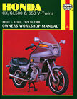 HAYNES Repair Manual - Honda CX/GL500 & 650 V-Twins 497cc & 673cc (78-86)