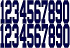 FULL Size 3 Helmet Number Decals for Indianapolis Colts set of 20