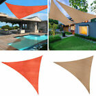 Sun Shade Sail Outdoor Top Canopy Patio Lawn Pool 165 Triangle UV Block