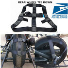 Universal Motorcycle Rear Wheel Transport Tie Down Strap Locking Easy to Operate
