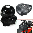 Leather and Carbon Fiber PVC Motorcycle Oil Fuel Tank Bag with Waterproof Cover