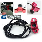 Red CNC Aluminum Motorcycle ATV Engine Stop Start Kill Switch Button With Wiring