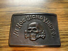 VTG IN HOC SIGNO VINCES SKULL  CROSSBONES BELT BUCKLE BIKER HARLEY