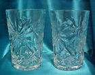 Two  EAPC 10 oz. Clear Glass Star of David Tumblers by Anchor Hocking