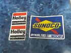 SUNOCO Official Fuel NASCAR Vinyl Racing Oil Decal Sticker and 2 Holley stickers