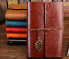 Vintage Leaf Diary Notebook Sketchbook Travel Leather Paper Journal Book A