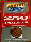 250 PANINI REWARDS POINTS PLUS 150 POINTS THAT MAY HAVE BEEN REDEEMED SEE DESCRI