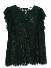 Michael Kors Dark Green Lace Blouse Womens Size XL