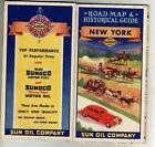 c1937 Sun Oil Company (Sunoco) New York Historical/Road Map