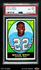1967 Topps #80 Willie West Dolphins PSA 8 - NM MT