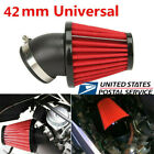 Red 42mm Air Filter 45 Degree Bend Inlet Accordion mesh design Add Horsepower
