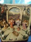 Fontanini Nativity Tuscan Garden Scene with Angels  Baby Jesus