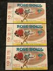 3 1976 Rose Bowl  Ticket Stubs USC Southern California vs Ohio State
