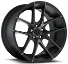 4 Niche M130 Targa 19x85 5x112 +34mm Black Machined Tint Wheels Rims 19 Inch
