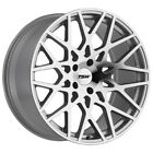 Staggered TSW Vale Front 18x85 Rear 18x95 5x1143 Silver Mirror Wheels Rims