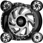Moto Metal MO989 Change Up 20x12 8x65 44mm Black Milled Wheel Rim 20 Inch