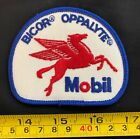 VTG embroidered patch Mobil Pegasus OG 70s oil gas made @ London Canada oppalyte