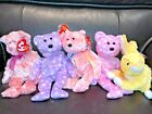 Lot of 5 TY EASTER Beanie Babies- BUTTERCREAM/ FIZZ/ SHERBET/ TOAST/ SMITTEN
