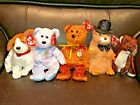 Lot of 5 TY Beanie Babies- DECADE / KIPPY/ RUNNER/ PUNXSUTAWNEY PHIL/ ISSY
