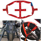 1 Pc RED Motorbike Rear Wheel Tie Down Strap Long Haul Short-distance Transport