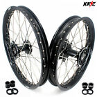 KKE 21/19 Dirtbike Mx Casting Wheels Rim Set Fit HONDA CRF250R 2004 CRF450R 2012