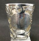 Antique Sterling Silver Overlay Shot Glass