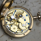 VERGE FUSEE Experimental REPEATER GOLD & ENAMEL Antique Repeating Pocket Watch