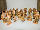 Vintage FONTANINI NATIVITY SET Lot of 20 Pieces