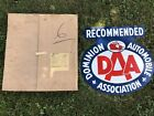 Dominion Automobile Association Sign (vintage) New Old Stock. 22x23 Double Sided
