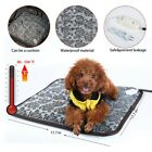 Safe Heated Warmer Bed Pad For Dog Cat Pet Bed Pad Mat Electric Heater Mat US