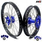 21/18 ENDURO WHEELS SET FOR KTM EXC EXC-E EXC-F 200 300 350 2003-2019 DISC BLUE